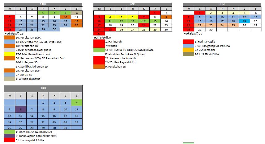 kalender akademik 2019/2020