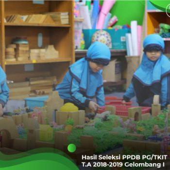 Hasil Seleksi PPDB PG/TKIT TA 2018/2019 Gelombang I