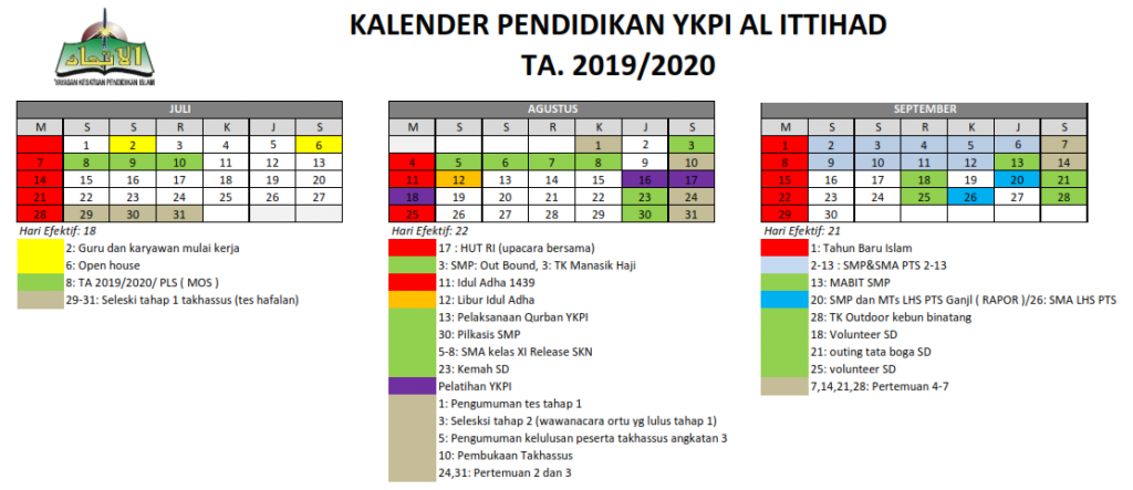 kalender TA.2019/2020