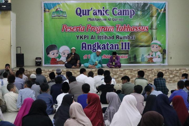 Pembukaan Qur'anic Camp, Program Takhassus Tahfidzul Qur'an Angkatan ke 3
