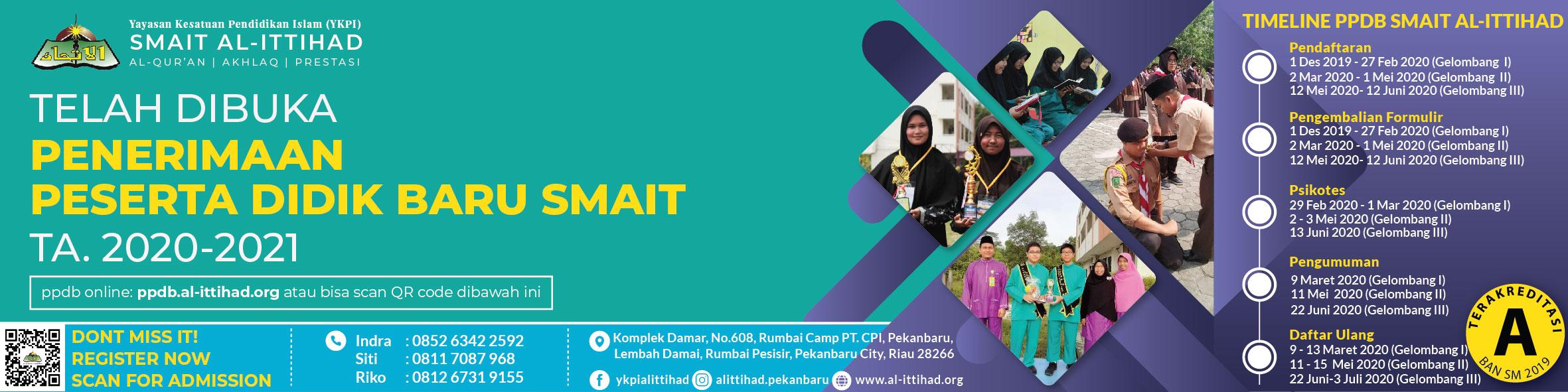 PPDB SMAIT Al-Ittihad TA.2020/2021