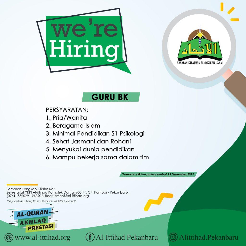 Open Recruitment Guru BK, Berikut Persyaratannya