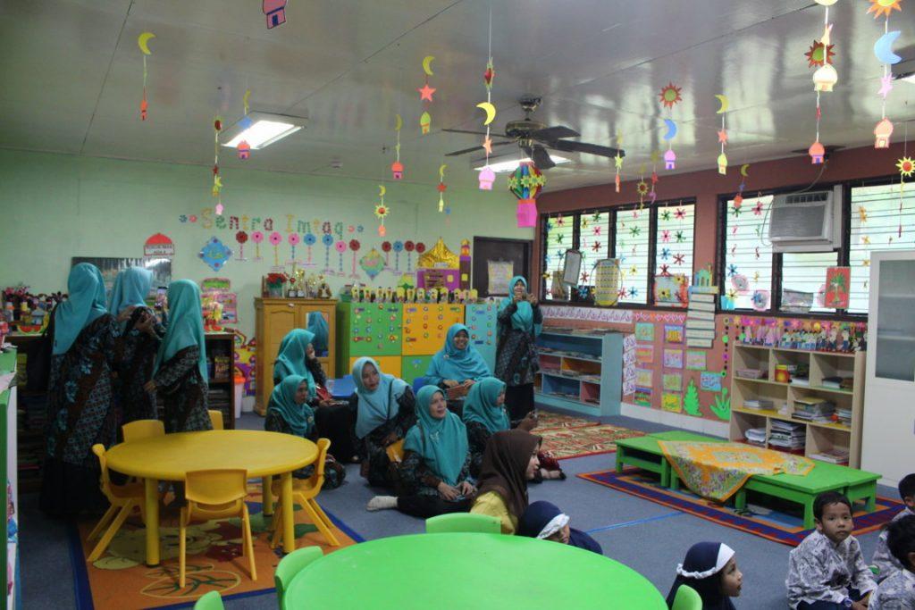 Para guru rayon 1 melakuakn study banding ke kelas TKIT Al-Ittihad