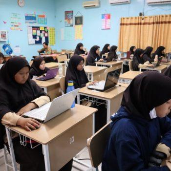 Ujian Semester, MTs Al-Ittihadiyah Gunakan Sistem CBT (Computer Based Test)