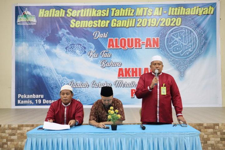 Haflah Sertifikasi Tahfiz MTs Al-Ittihadiyah Semester Ganjil 2019/2020