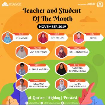 Guru dan Murid Teladan Oktober 2019