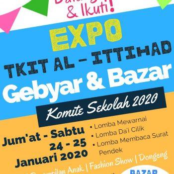 Datang & Ikuti Expo TKIT Al-Ittihad 2020 Gebyar dan Bazar