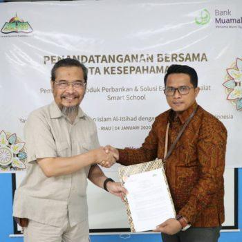Penandatanganan Bersama Nota Kesepahaman YKPI Al-Ittihad Dengan PT. Bank Muamalat Indonesia