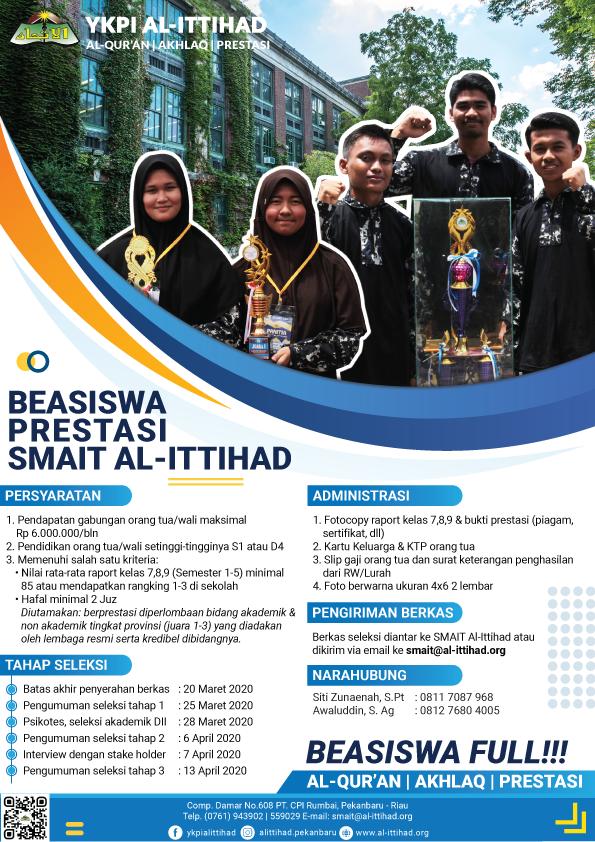 Beasiswa Prestasi SMAIT Al-Ittihad