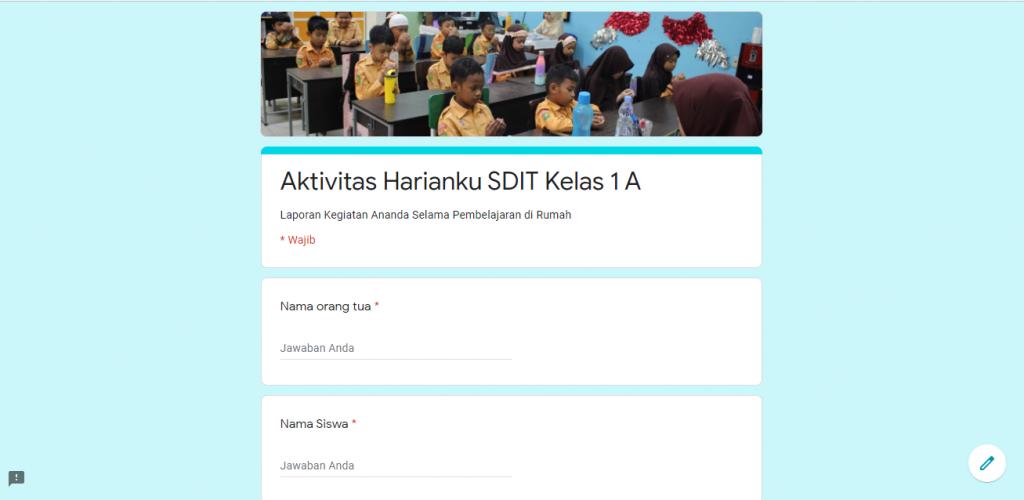 Link Pelaporan Aktivitas Harian Siswa SD, MTs, SMP & SMA Selama di Rumah