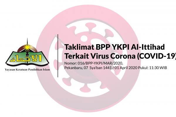 Taklimat BPP YKPI Al-Ittihad Terkait Virus Corona (COVID-19) Untuk SDIT