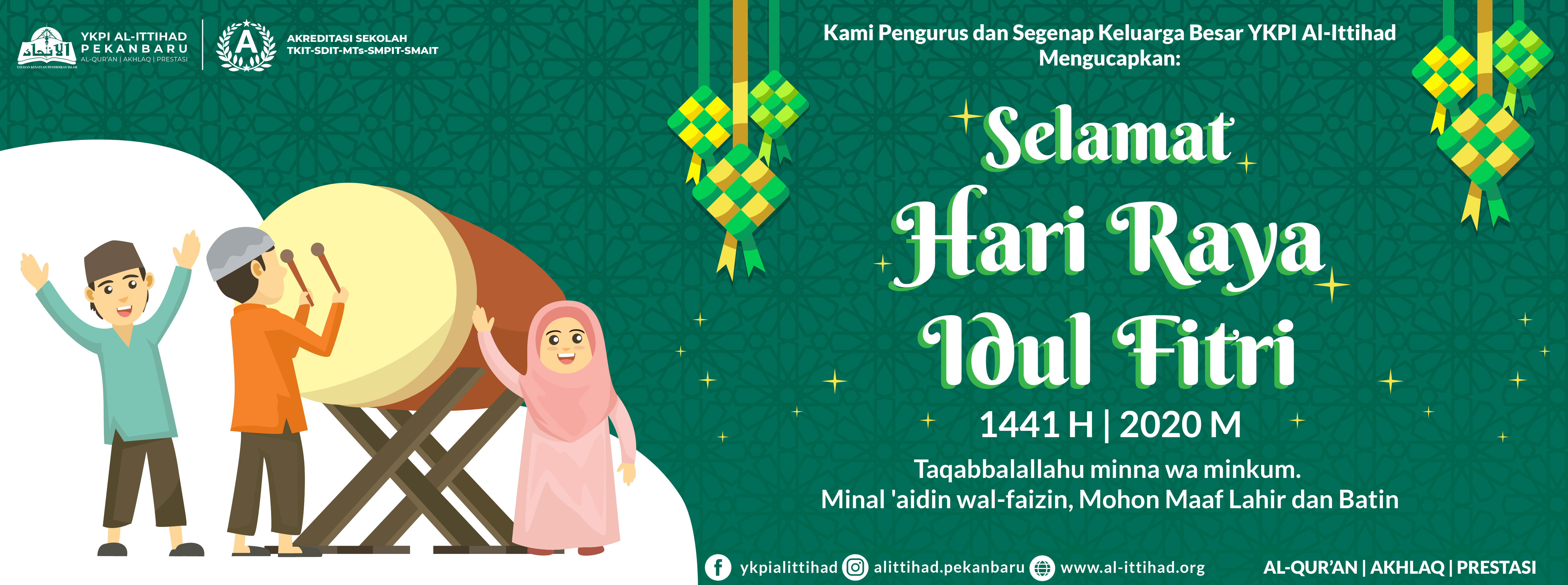 Selamat Idul Fitri 1441H 2020M