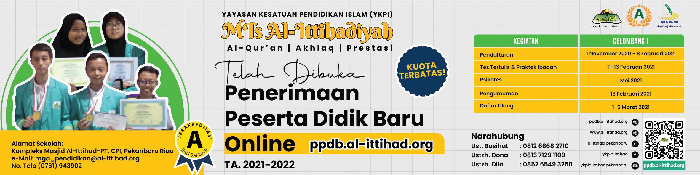 PPDB MTs Al-Ittihadiyah TA.2021/2022