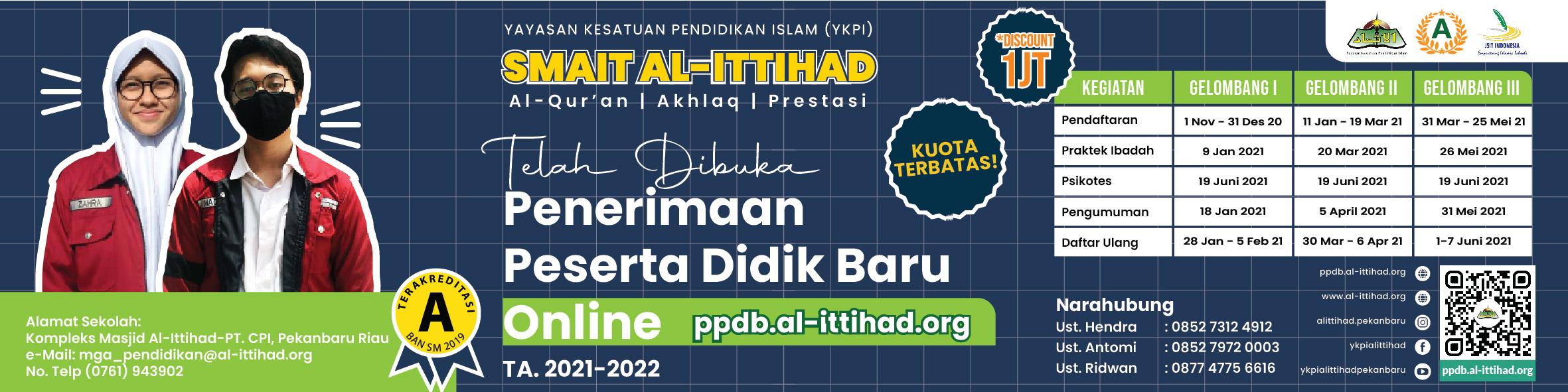 PPDB SMAIT AL-ITTIHAD TA.2021/2022