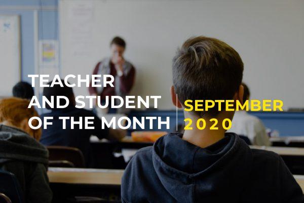 Penghargaan Guru dan Murid Teladan Bulan September 2020