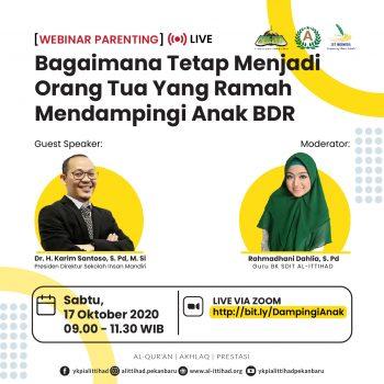 Informasi Parenting Nasional dan Penerimaan Laporan PTS Juli-September TP. 2020/2021