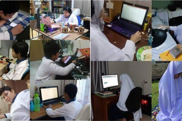 SMPIT Lakukan Penilaian Tengah Semester (PTS) Secara Online