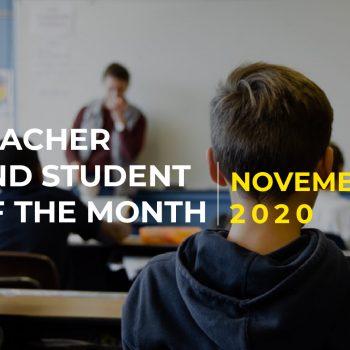Penghargaan Guru dan Murid Teladan Bulan November 2020