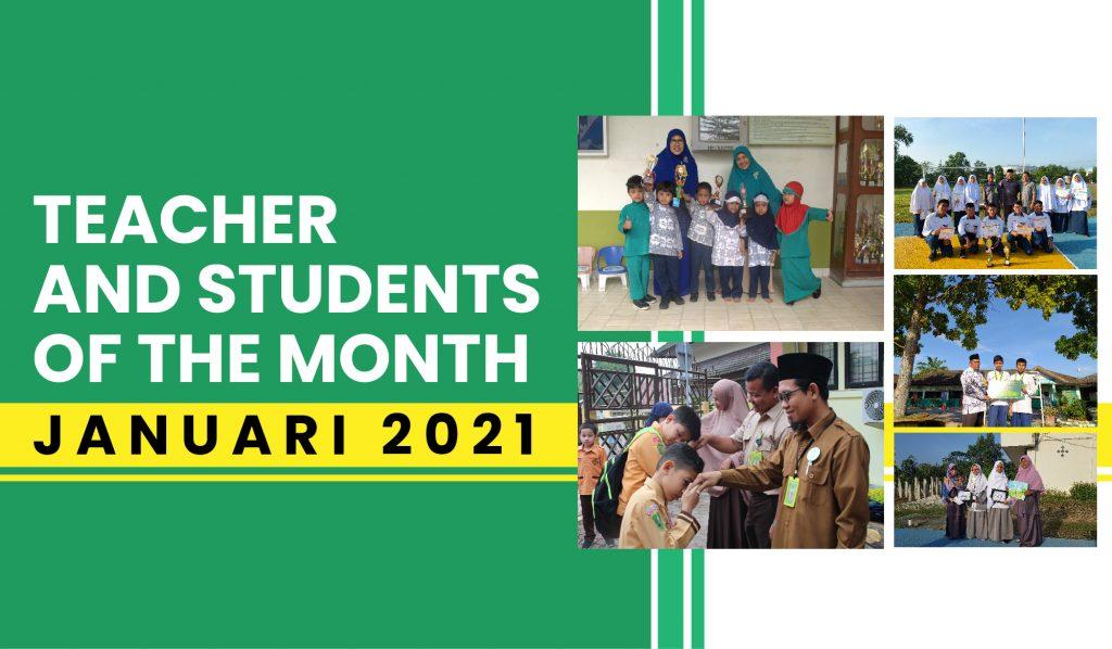 Penghargaan Guru dan Murid Teladan Bulan Januari 2021