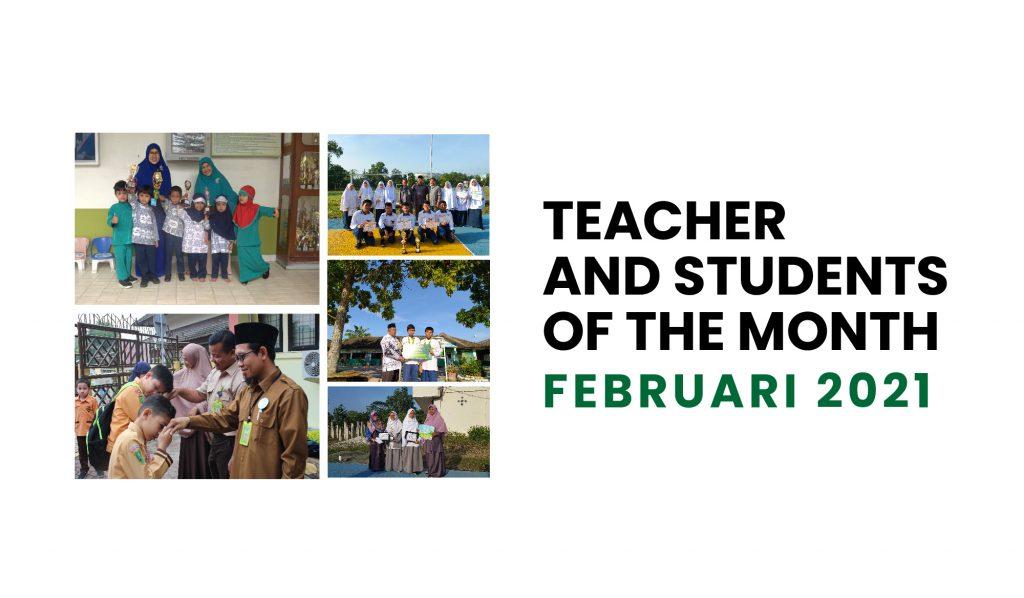 Penghargaan Guru dan Murid Teladan Bulan Februari 2021