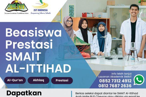 Beasiswa Prestasi SMAIT Al-Ittihad TA.2021/2022 (Beasiswa Full)
