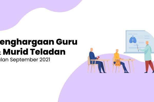 Penghargaan Guru dan Murid Teladan Bulan September 2021